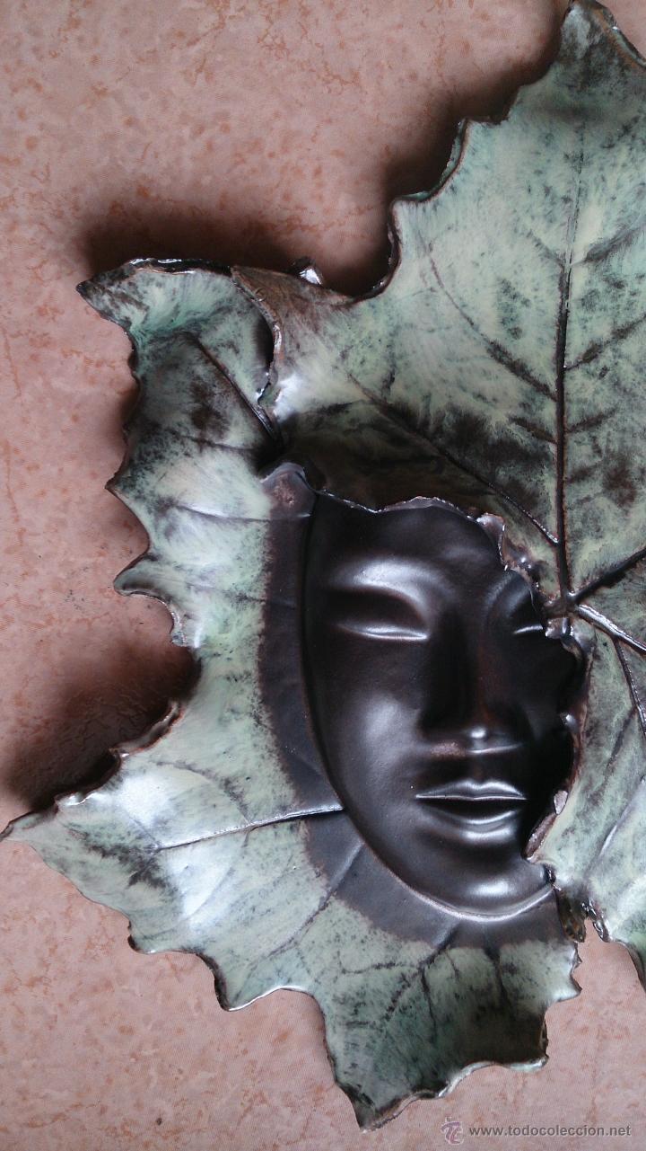 Artesanía: Magnifica mascara en terracota con hojas de parra, hecha a mano . - Foto 11 - 40597192