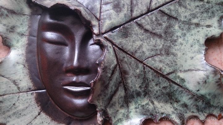 Artesanía: Magnifica mascara en terracota con hojas de parra, hecha a mano . - Foto 13 - 40597192