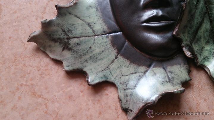 Artesanía: Magnifica mascara en terracota con hojas de parra, hecha a mano . - Foto 16 - 40597192