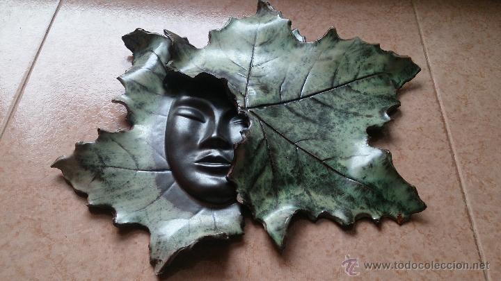 Artesanía: Magnifica mascara en terracota con hojas de parra, hecha a mano . - Foto 17 - 40597192