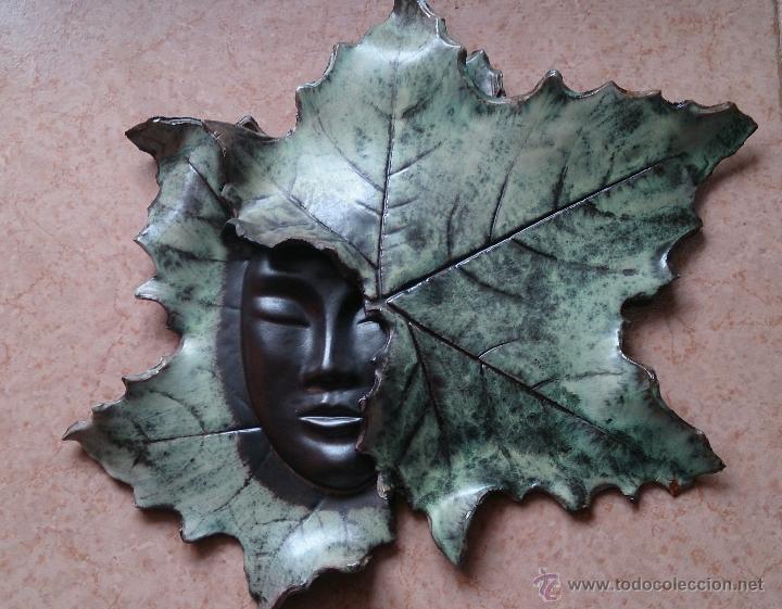 Artesanía: Magnifica mascara en terracota con hojas de parra, hecha a mano . - Foto 18 - 40597192