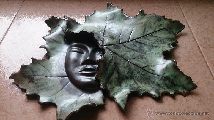 Artesanía: Magnifica mascara en terracota con hojas de parra, hecha a mano . - Foto 19 - 40597192