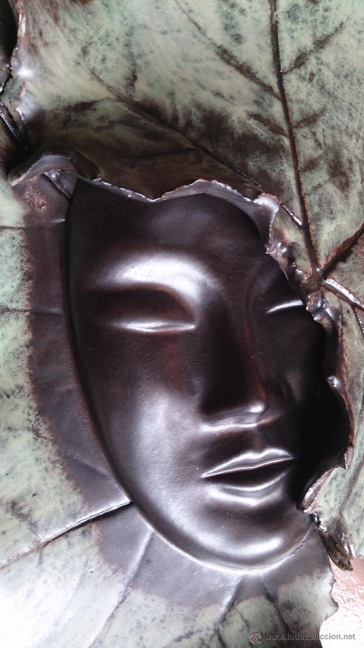 Artesanía: Magnifica mascara en terracota con hojas de parra, hecha a mano . - Foto 20 - 40597192