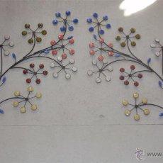 Artesanía: CABECERO FLORAL DE FORJA Y CERAMICA. MEDIDA PARA CAMA DE 90 - 105 - 135 - 150 - 200 CM. Lote 41340598