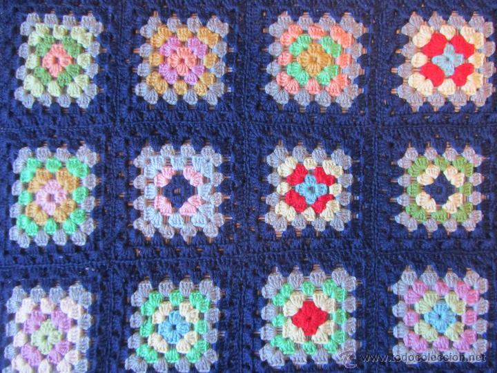 Colcha de ganchillo de colores hecha a mano de comprar - Mantas lana ganchillo ...
