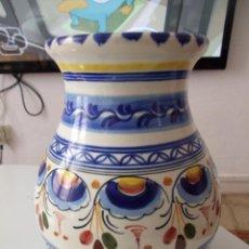Artesanía: JARRON FLORERO - LOZA O CERAMICA ESMALTADA - ACTUAL. Lote 43496550