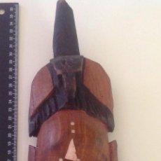 Artesanía: CARETA AFRICANA TALLADA EN MADERA.. Lote 43758320