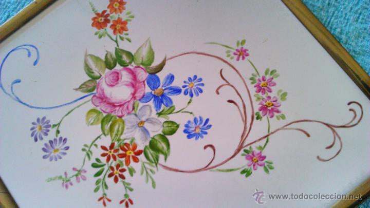 Artesanía: Azulejo enmarcado y pintado a mano. METTLACH MADE IN GERMANY - Foto 2 - 43866129