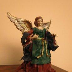Artesanía: ANGEL DE PAPEL MACHÉ Y PORCELANA. Lote 46830020
