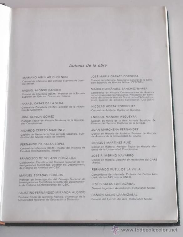 Artesanía: VV.AA. Las Fuerzas Armadas. Historia Institucional y Social. OCHO TOMOS. RM67896. - Foto 3 - 47387841