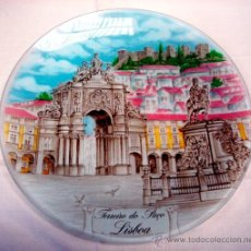 Artesanía: PLATO VIDRIO - RECUERDO DE LISBOA (PORTUGAL). Lote 170345389