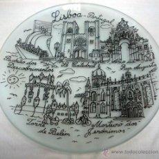 Artesanía: PLATO VIDRIO - RECUERDO LISBOA (PORTUGAL). Lote 48522912