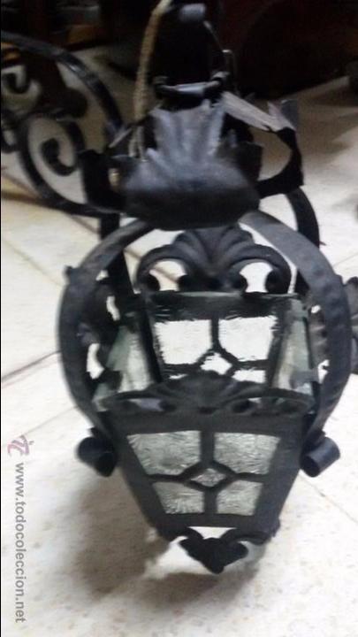 Artesanía: FAROLILLO CON SOPORTE PARA PARED. TOTALMENTE ARTESANAL EN CHAPA - Foto 4 - 132256865