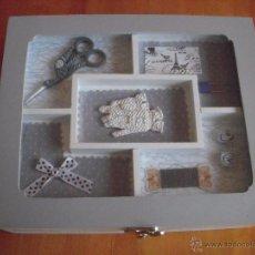 Artesanía: COSTURERO, CAJA DE COSTURA DE MADERA SIN ESTRENAR. Lote 48935210