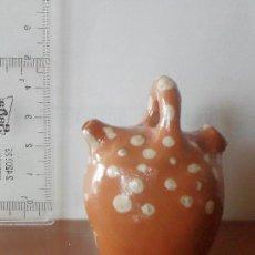 Artesanía: BOTIJO CERAMICA DE 4 CM, BARRO PINTADO. Lote 49010443