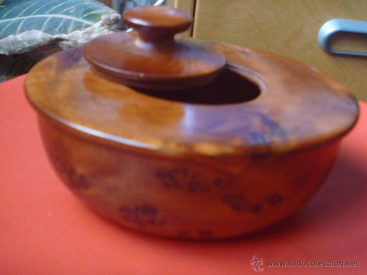 Artesanía: Recipiente madera raiz olivo ideal incienso, especias o hierbas - Foto 2 - 49496988