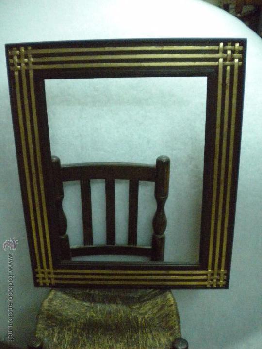 Artesanía: Marco ,dorado y estuco.Medida interior 57,7x45,2 cm - Foto 3 - 49516481