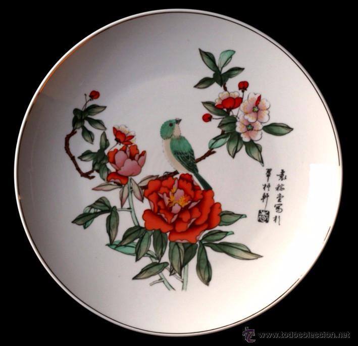 PLATO PORCELANA 25 CM - FANTASIA CHINA (B) (Artesanía - Hogar y Decoración)