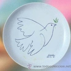 Artesanía: PLATO PICASSO 20 CM - LA COLOMBE BLEUE. Lote 295853708