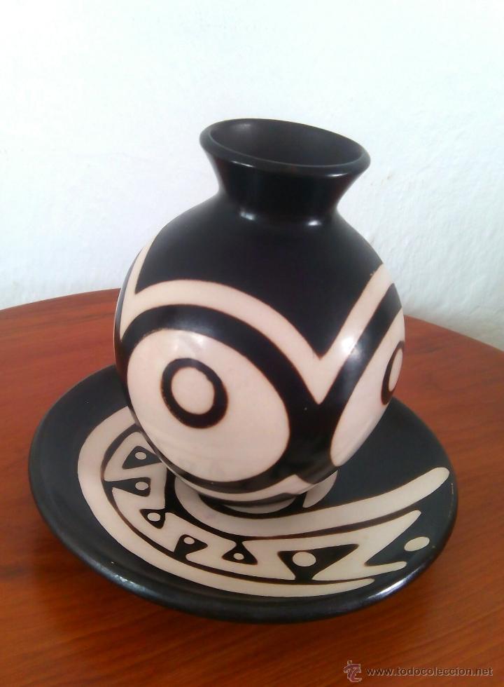 VASIJA Y PLATO DE COLOMBIA (Artesanía - Hogar y Decoración)