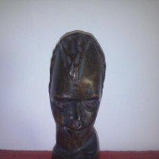 Artesanía: TALLA EN MADERA BUSTO AFRICANO MIDE 23 CMS DE ALTURA. Lote 51418846