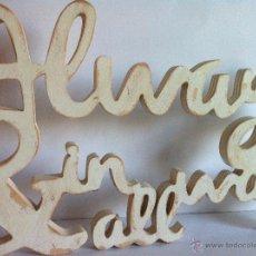 Artesanía: ALWAYS & IN ALL WAYS LETRAS DE MADERA PERSONALIZADAS. Lote 51593569