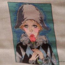 Artesanía: GOBLEN PUNTO DE CRUZ - ARLEQUIN CHICA #1823. Lote 51800458
