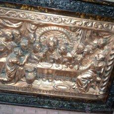 Artesanía: CUADRO DE LA SANTA CENA DE JESÚS CINCELADO EN COBRE. Lote 52553273