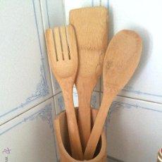 Kunsthandwerk - Utensilios decorativos de madera para la cocina. Vintage. - 53773116