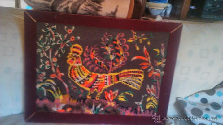 Artesanía: Precioso cuadro hecho en punto de cruz motivo gallo colores muy vivos. PRINCIPIOS SIGLO XX - Foto 2 - 54017258