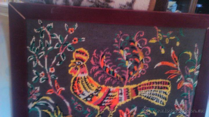 Artesanía: Precioso cuadro hecho en punto de cruz motivo gallo colores muy vivos. PRINCIPIOS SIGLO XX - Foto 5 - 54017258