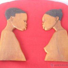 Artesanía: 2 TALLAS AFRICANAS. Lote 54060406