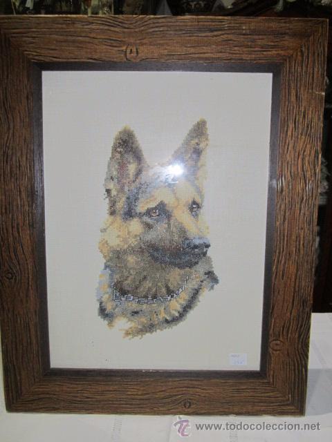 cabeza de perro pastor alemán, bordada a punto - Comprar Artesania ...