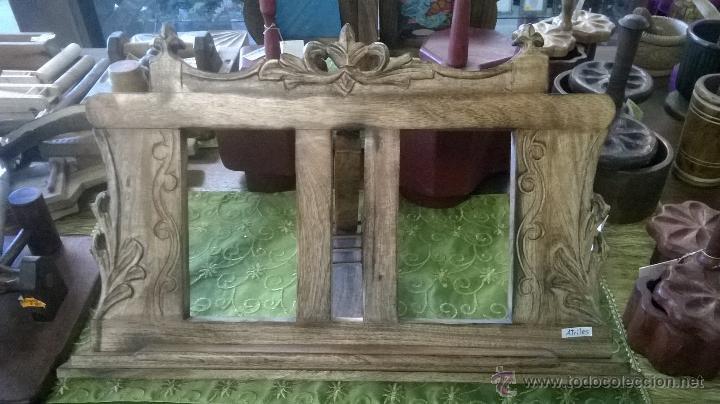 Atril de mesa de madera maciza medida 58 x 36 comprar artesania hecha a mano para el hogar y - Atril decoracion ...