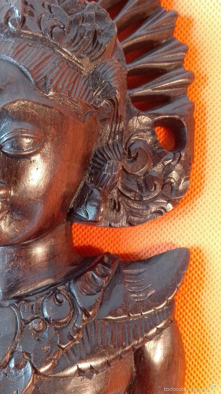 Artesanía: TALLA DE MADERA 1. BUSTO DE MUJER. INDONESIA. Años 80. - Foto 7 - 57015414