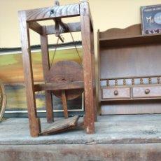 Artesanía: DEVANADORA DO LINO RUSTICA 1910.. Lote 57069103