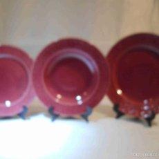 Artesanía: TRES PLATOS GRANATES. Lote 57088739