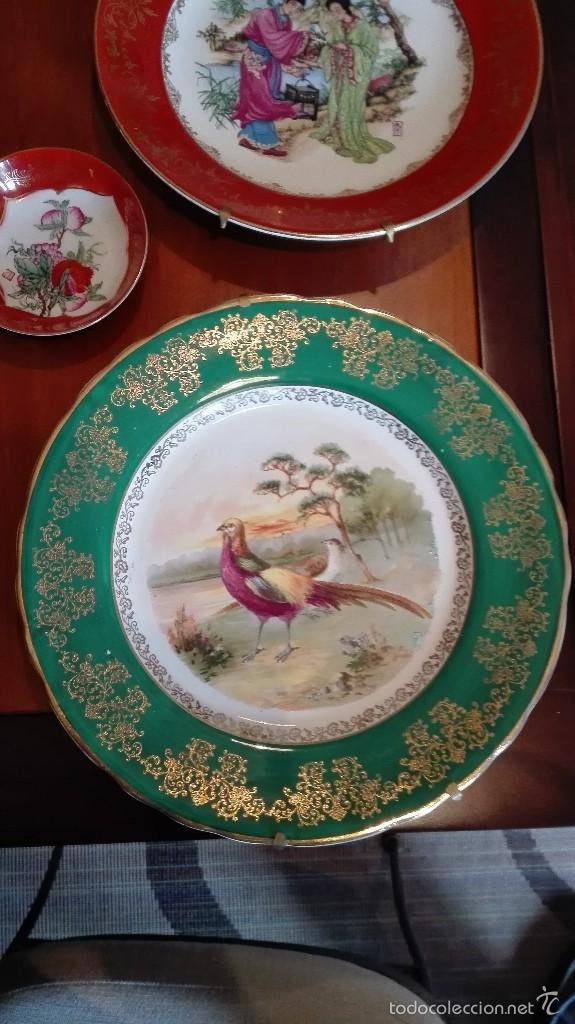 Artesanía: Platos de cerámica china, con anclajes a pared - Foto 2 - 57511499