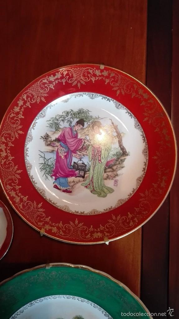 Artesanía: Platos de cerámica china, con anclajes a pared - Foto 3 - 57511499