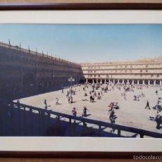 Artesanía: FOTOGRAFÍA DE PLAZA MAYOR DE SALAMANCA CON CRISTAL Y MARCO MADERA 39,5 X 53,5. Lote 57602732