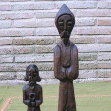 Artesanía: LOTE DE DOS TALLAS DE MADERA - RELIGIOSOS.. Lote 58346372