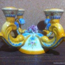 Artesanía: CANDELABRO DE CERAMICA PARA 4 VELAS. Lote 62091860