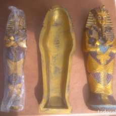 Artesanía: EGIPTO.SARCÓFAGO EGIPCIO POLICROMADO DEL FARAÓN TUTANKAMON.PINTADO A MANO.. Lote 67366386