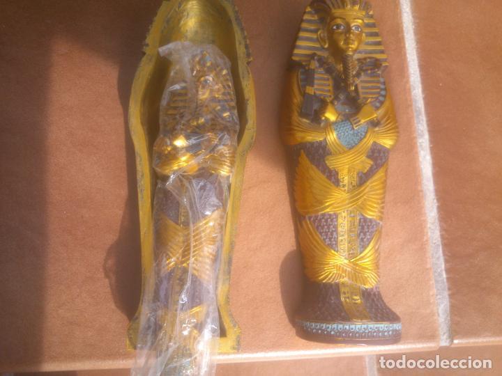 Artesanía: EGIPTO.SARCÓFAGO EGIPCIO POLICROMADO DEL FARAÓN TUTANKAMON.PINTADO A MANO. - Foto 4 - 67366386
