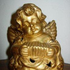 Artesanía: ESCULTURA ANGEL ANTIGUO, CERAMICA Y DORADO. Lote 65841154