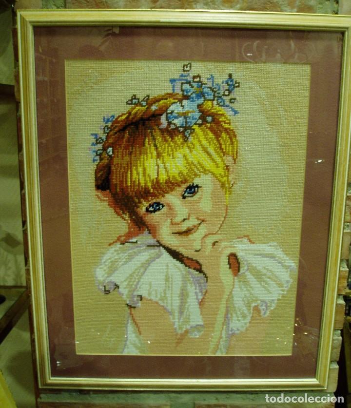 cuadros hechos a mano de punto, preciosa niña ( - Comprar Artesania ...