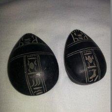 Artesanía: ESCARABAJOS EGIPCIOS,ORIGEN EL CAIRO,GRABADO CON JEROGLIFICOS. Lote 69778909