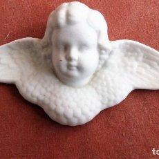 Artesanía: ANGELITO EN CERAMICA BLANCA O BISCUIT, PARA COLGAR, MEDIDAS 16 X 7,5 CM. Lote 72690023