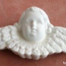 Artesanía: ANGELITO EN CERAMICA BLANCA O BISCUIT, PARA COLGAR, MEDIDAS 14 X 7 CM. Lote 72690279