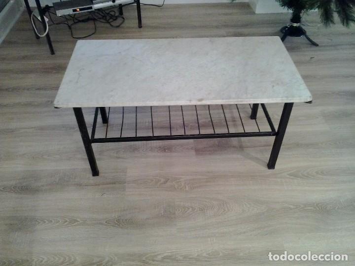 Mesa auxiliar de m rmol con patas de hierro comprar - Mesas de marmol precios ...